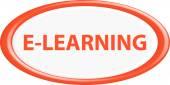 Button e-learning — Stock Vector