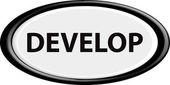 Botão de desenvolver — Vetor de Stock
