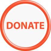 Button donate — Stock Vector