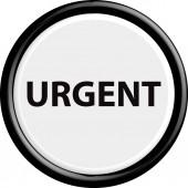 Button urgent — Stock Vector