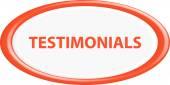 Button testimonials — Stock Vector