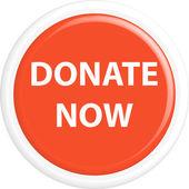 Button donate now — Stock Vector