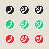 Set of  icons telephony — Stock Vector