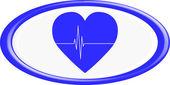 Heart button. — Stock Vector