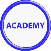 Button academy 3d — Stock Vector