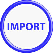 Button import — Stock Vector