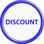 Button discount 3d — Stock Vector