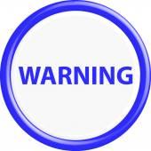 Button warning 3d — Stock Vector