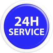 Button 24h service — Stock Vector