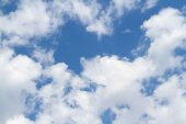 White clouds on blue sky. — Stock Photo