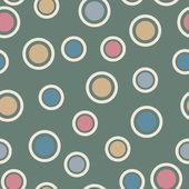 Seamless pattern of circles — Stock Vector
