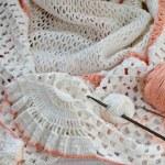 Crochet with white yarn. — Stock Photo #69540935