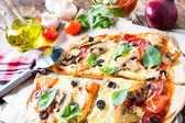 Pizza homemade — Foto de Stock