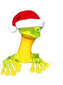 Gecko the Santa Claus — Stock Photo