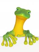 Geckowith a blank sign — Stock Photo