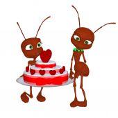 Ant in love — Stock Photo