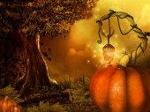 Magisches halloween-hintergrund — Stockfoto