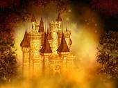 Fantasy magical castle — Foto Stock