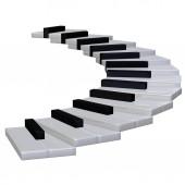 Piano stairway 3d — Stock Photo