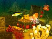 Sunken treasure — Stock Photo