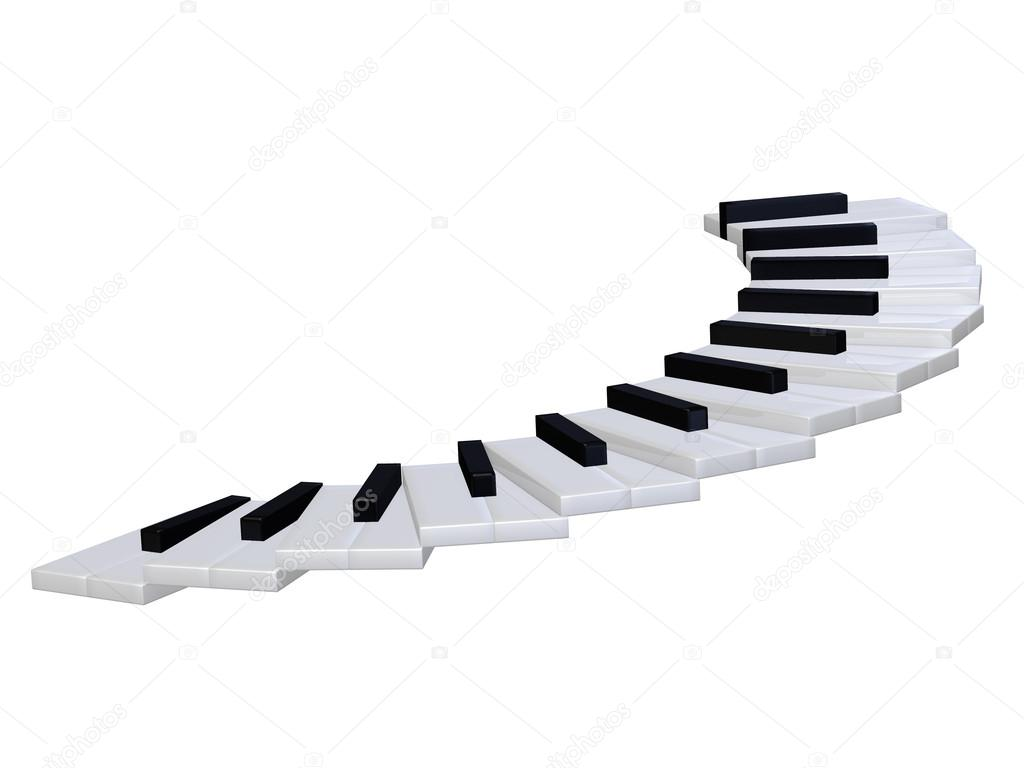 Abstract Piano Staircase 3d Stock Illustration - Image: 46623556