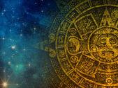 Ancient sign, maja calendar — Stock Photo