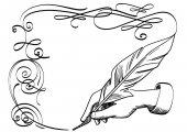 Hand drawing a flourish — Stock Vector