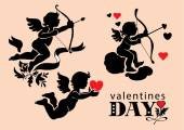 Set of images of Cupids Valentine's Day — Stock vektor