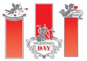 Set of stickers of Cupids Valentine's Day — Vector de stock