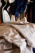 Pile of ironing — Stock Photo