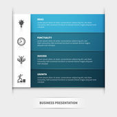 Business Presentation Template — Stock Vector