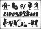 Cultural Characters — Vetor de Stock