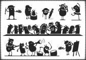 Cultural Characters — Stock Vector