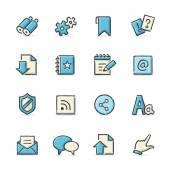 Iconos de internet — Vector de stock