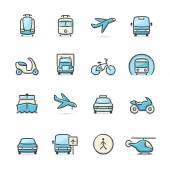 Ikony transportu — Wektor stockowy