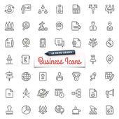 Icone disegnate a mano business — Vettoriale Stock