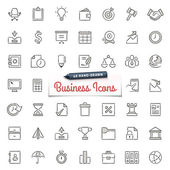 Hand-Drawn Business Icons — Stock Vector