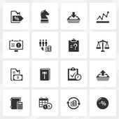 Business Enterprise Icons — Stock Vector