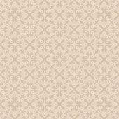 Beige Seamless Wallpaper Pattern — Stok Vektör