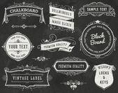 Chalkboard Vintage Design Elements — Stock Vector