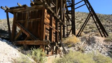 Abandon Mining Ghost Town — Stock video