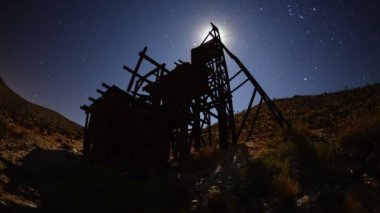 Abandon Gold Mine at Night — Stock Video