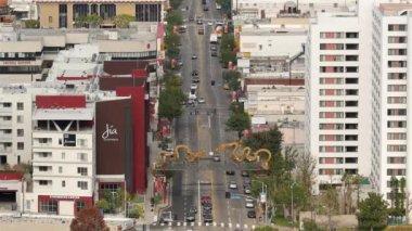 Chinatown Downtown Los Angeles California trafik — Stok video