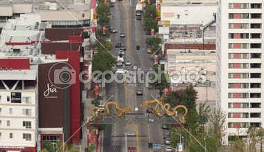 Overhead View of Traffic in Chinatown Downtown — Wideo stockowe