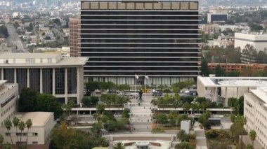 Dwp Building From Above In Los Angeles — Stock Video