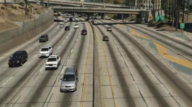 Traffic in Downtown Los Angeles California — Stock Video