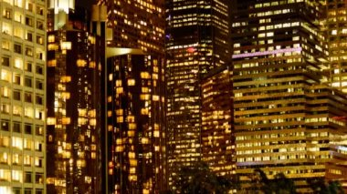 Scenic Downtown Los Angeles at Night — Stock Video