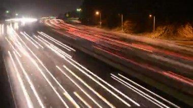 Night Traffic In Los Angeles — Stock Video