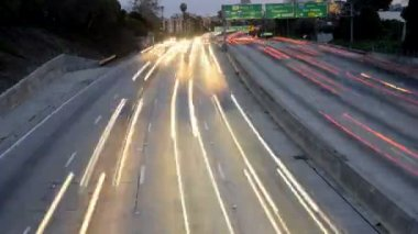 Freeway Traffic in Los Angeles — Stock Video