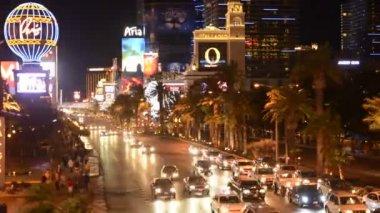 Time Lapse of the Las Vegas Strip at Night — Stock Video